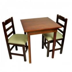 Conjunto Fixo  com 2 Cadeiras Almofadadas Verde