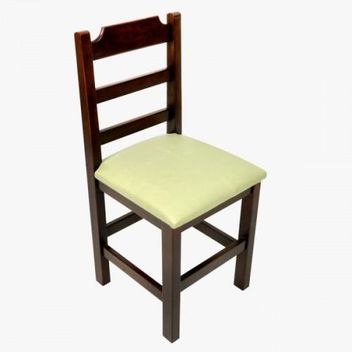 Cadeira Fixa Paulista Almofadada com Assento Verde