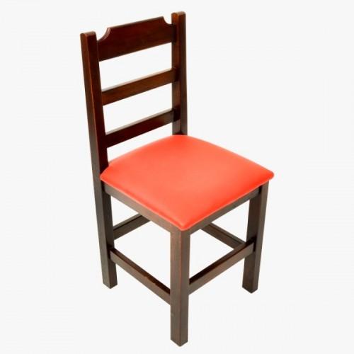 Cadeira Fixa Paulista Almofadada com Assento Vermelho