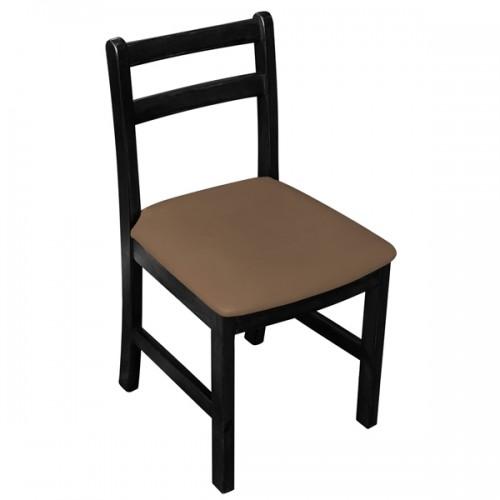Cadeira Fixa Floripa Almofadada com Assento Marrom